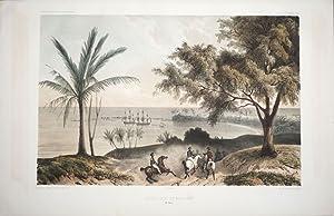"""Mouillage de Matavai (Ile Taiti). Print from """"Voyage au Pole Sud et dans l'Oceanie: Dumont ..."""