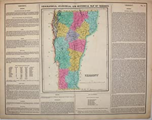 Geographical, Statistical, and Historical Map of Vermont