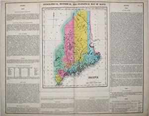 Geographical, Statistical, and Historical Map of Maine