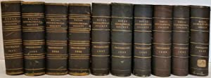 Proceedings of the Royal Geographical Society of London, Volume V - XIV, 1883 through 1892,10 vol...