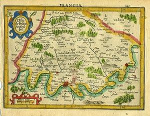 L'Isle de France Parisiesis Ager. [France]: Mercator, Gerhard