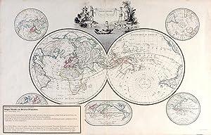 Mappe-Mondes sur Diverses Projections: Malte-Brun, Conrad. [Chamouin; Giraldon]