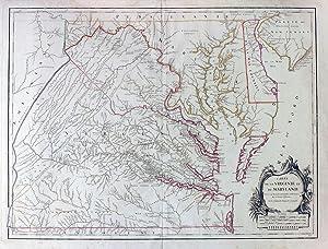 Carte de la Virginie et du Maryland Dressee sur la Grande Carte Angloise de Mrs. Josue Fry et ...
