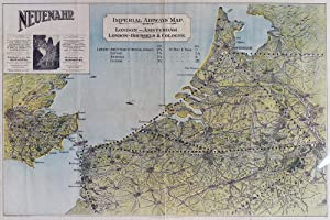 Imperial Airways' Map: London - Amsterdam; London - Brussels & Cologne: Airlines]