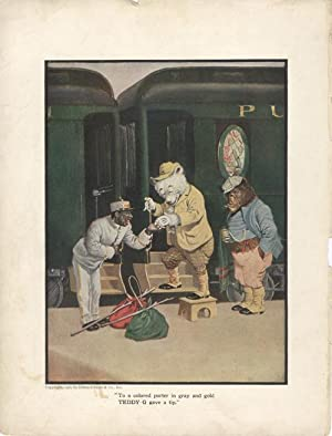The Roosevelt Bears Race to Catch the Limited Express (Color Print)