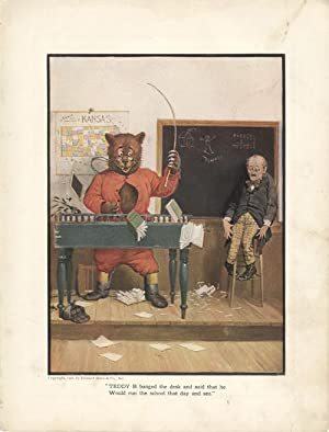The Roosevelt Bears at a District School (Color Print): Campbell, V. Floyd
