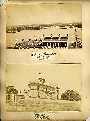 Album page of albumen photographs by one of Australia's leading landscape photographers: Sydney...