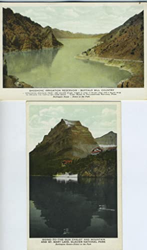 Two Postcards from Burlington Route of Scenes in National Parks