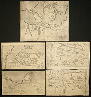 Set of five maps of an imaginary Australia/Antarctic