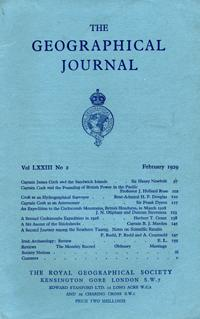 Capt. J. Cook & the Sandwich Islands in The Journal of the Royal Geographical Society, Monthly Is...