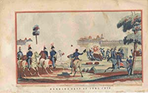 Six Color Prints Showing Key Battles of the Mexican-American War, 1847