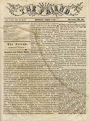 The Friend (newspaper) Honolulu, March 1855