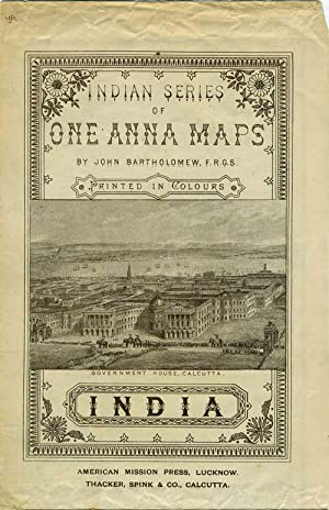 Indian Series of One Anna Maps, Printed in Colours: India