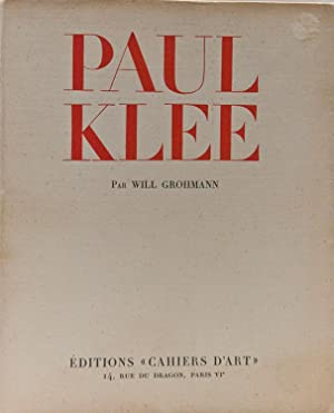 Paul Klee (SIGNED BY IMPORTANT KLEE COLLECTOR): Grohmann, Will