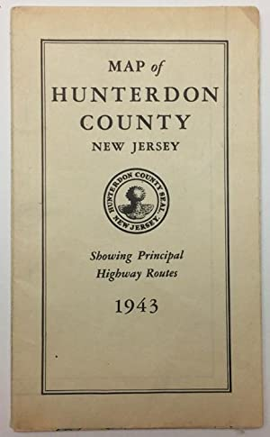 Map of Hunterdon County, NJ, showing principal highway routes, 1943