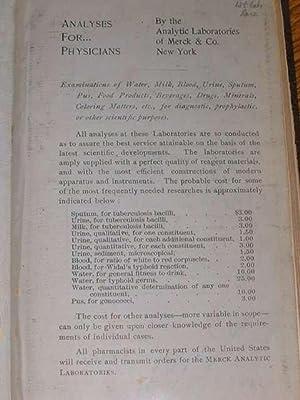 Merck's Manual of the Materia Medica - 1st Edition