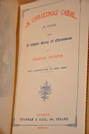 DICKENS A CHRISTMAS CAROL 1st Edition: Charles Dickens