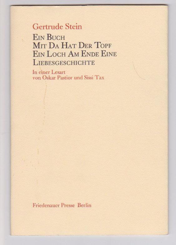 Ein Buch Mit Da Hat Der Topf Ein Loch Am Ende: Eine Liebesgeschichte