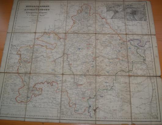 Unterfranken Karte.Unterfranken Und Aschaffenburg Des