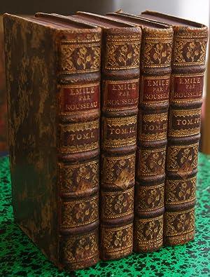 Émile ou de L'education. Mit 3 Frontispizen.: Rousseau, Jean Jacques.