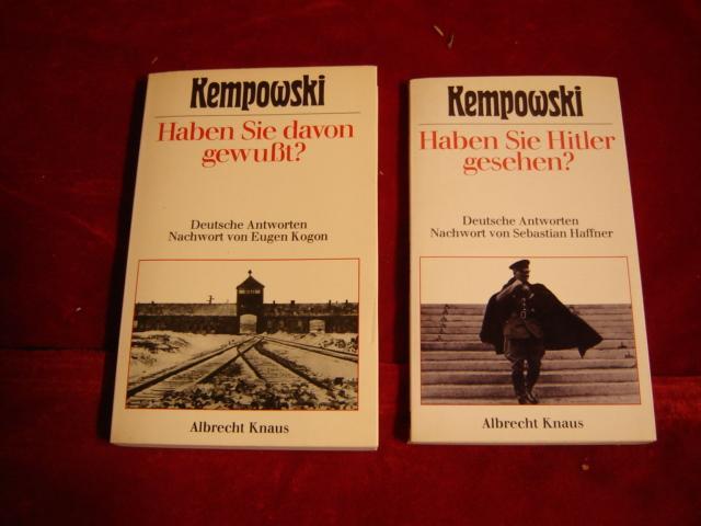 2er Konvolut des Autors. 1. Haben Sie: Kempowski, Walter: