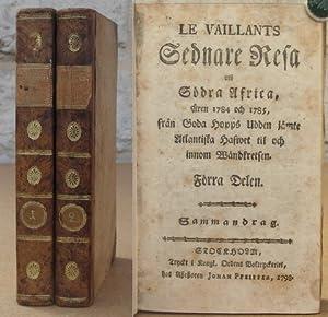 Le Vaillants Sednare Resa uti södra Africa, åren 1784 och 1785, från Goda Hopps ...