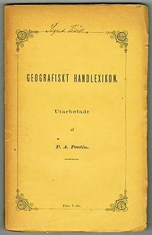 Geografiskt handlexikon.: Pontén, P. A.