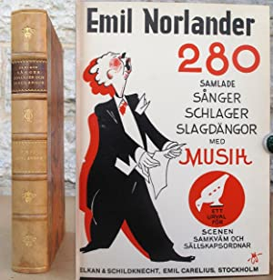 280 samlade sånger, schlager och slagdängor med musik.: Norlander, Emil.