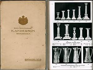 Katalog No 12. Juvel- & guldsmedsarbeten.: Kungl. Hofjuvelerare K. Anderson, Stockholm.