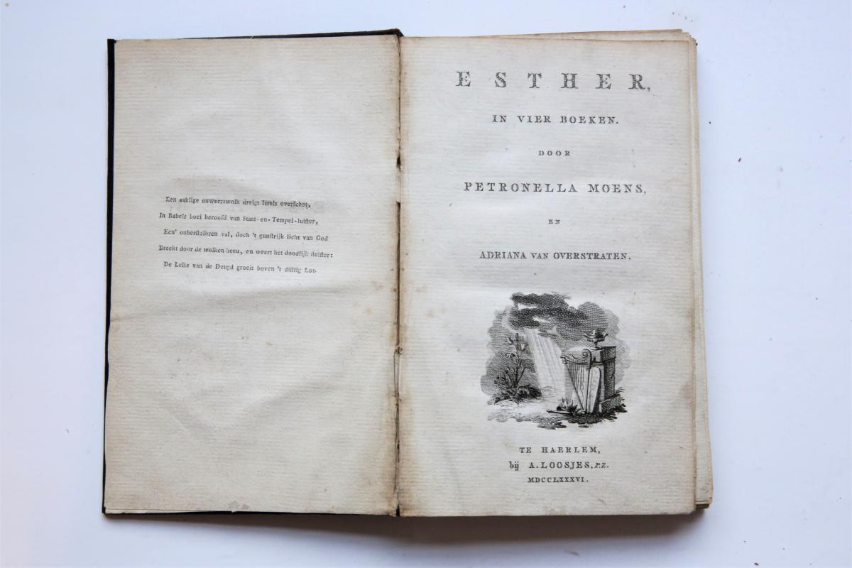 Esther In Vier Boeken Haarlem Adriaan Loosjes Moens Petronella Adriana
