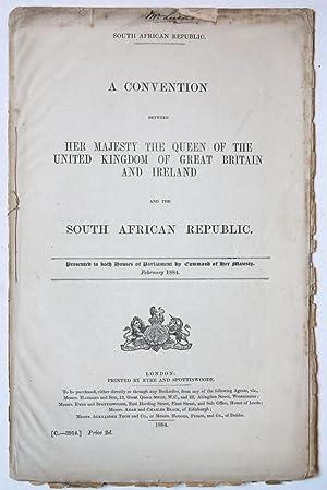 ZUID-AFRIKA--- A convention between H.M. the Queen