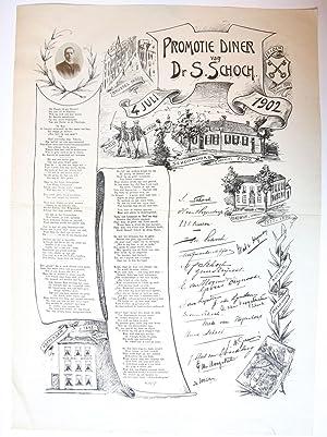 Prent op de promotie van Dr S.: Schoch, S.