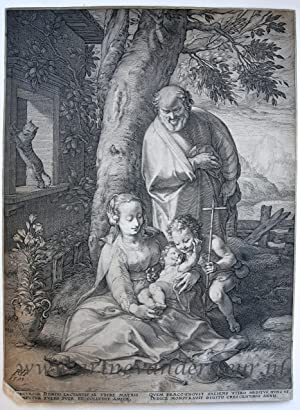 Holy Family with St. John (Life of the Virgin; series); 1593