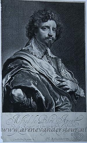Michel le Blon Agent. (Portrait of Michel: Matham, Theodor (1605-1676),