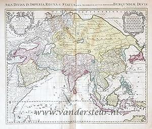 L'Asie divisée en ses empires, royaumes et: Jaillot, Alexis Hubert