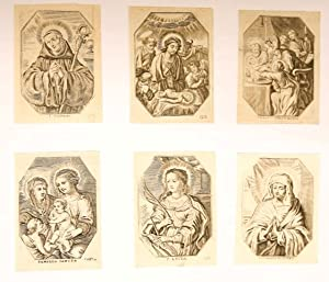 Set of six devotional: S. Maurus, The adoration of the Shepherds, the Circumcision, St. Anne and ...