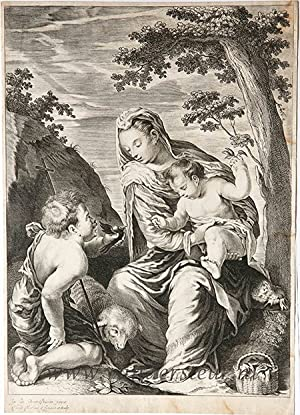 The Virgin and Child with infant St. John the Baptist [Set title: Variarum imaginum a celeberrimis.]