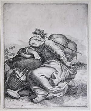 A peasant resting on a rock: Bloemaert, Frederik (1614/17-1690)