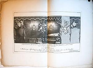 Afbeelding van de zaal en 't praalbed: Punt, Jan