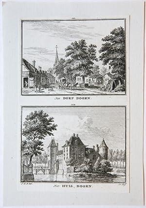 Het Dorp Doorn. / Het Huis Doorn.: Spilman, Hendricus (1721-1784)
