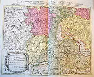 [MAP OF RHINE AREA] Table geographique dans la quelle fort distinctement est montre la partie mer...