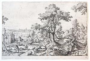 Apollo killing Coronis. (Apollo doodt Coronis, de: Bol, Hans (1534-1593)