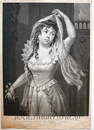 Portrait of Anna Maria Kamphuyzen-Snoek, as Rosamunda of Corfu.