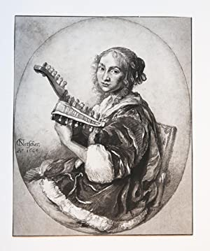 Young woman playing a lute (luit).