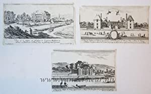 Three views on French cities: Lyon, Villeroy, Sainct Germain.