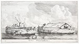 Twee Overlanders, [set title: Various ships and views of Amsterdam].