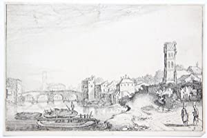 Ponte Sisto and the Tiber in Rome [Set title: Amenissimae aliquot regiunculae. (4th volume)]/Sist...