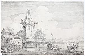 Tower on the river Niers [Set title: Amenissimae aliquot regiunculae. (4th volume)] in Niederrhein.