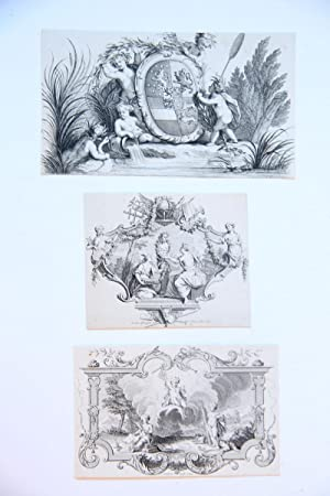 Three decorative prints (drie decoratieve prenten).