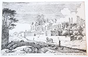 Landscape with ruins and a woman with a parasol [set: Twelve landscapes] (landschap met ruine en ...